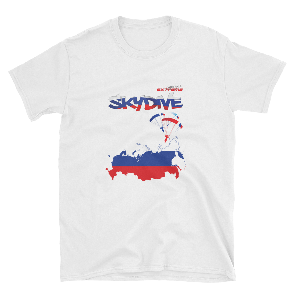 Skydiving T-shirts - Skydive World - RUSSIA - Cotton Tee -, Shirts, eXtreme 120+™ Skydiving Apparel, eXtreme 120+™ Skydiving Apparel, Skydiving Apparel, Skydiving Gear, Olympics, T-Shirts, Skydive Chicago, Skydive City, Skydive Perris, Drop Zone Apparel, USPA, united states parachute association, Freefly, BASE, World Record,