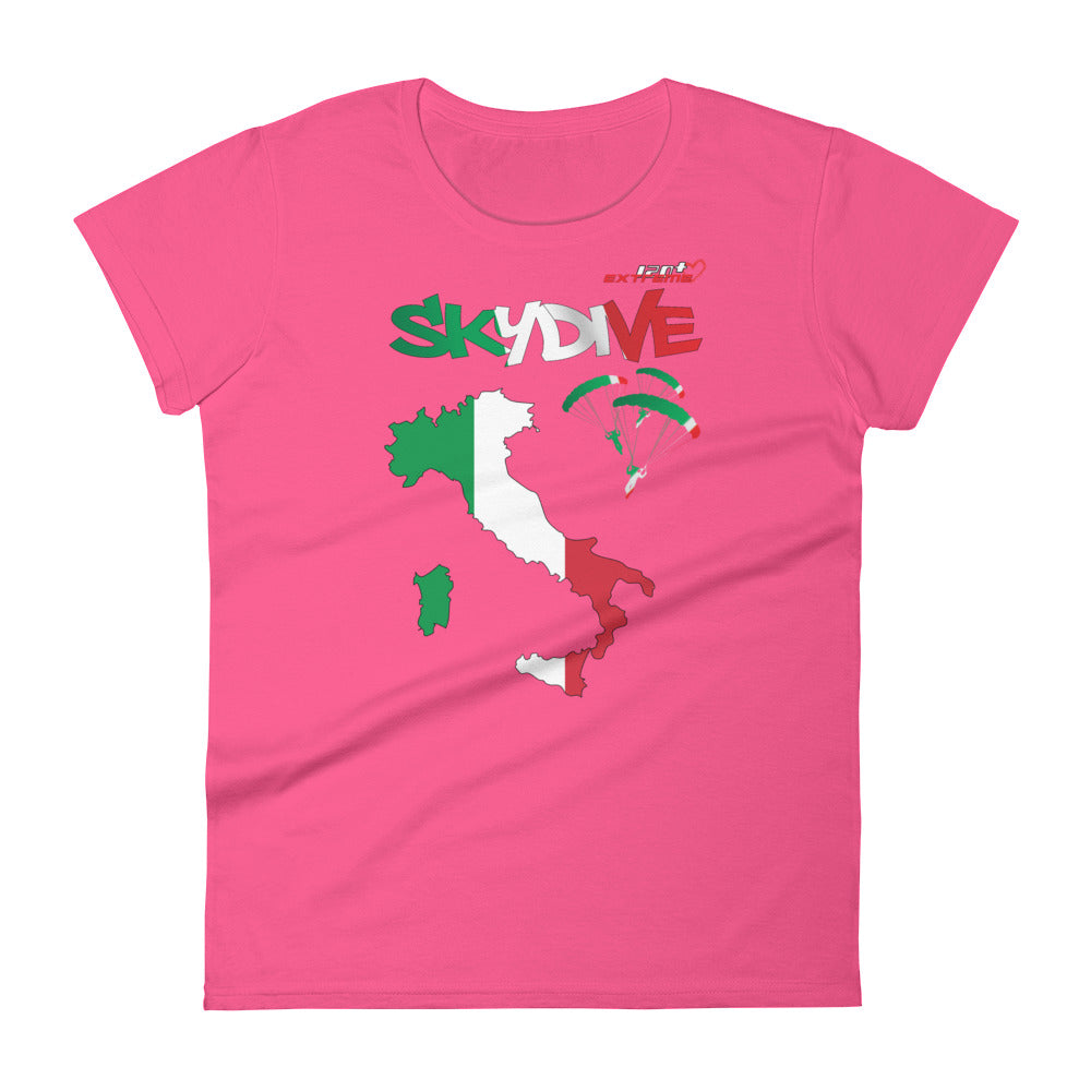 Skydiving T-shirts - Skydive All World - ITALY - Ladies' Tee -, Shirts, Skydiving Apparel, Skydiving Apparel, Skydiving Apparel, Skydiving Gear, Olympics, T-Shirts, Skydive Chicago, Skydive City, Skydive Perris, Drop Zone Apparel, USPA, united states parachute association, Freefly, BASE, World Record,