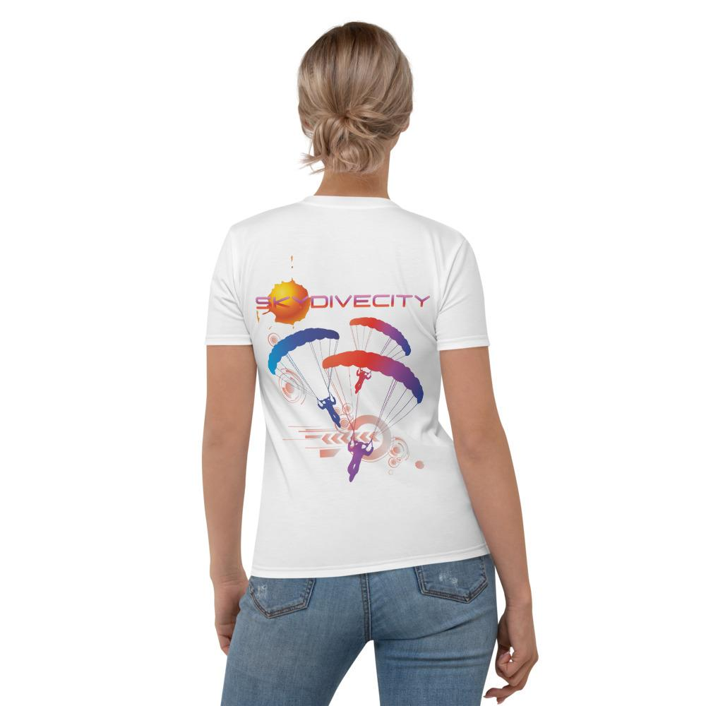Skydiving T-shirts - Skydive City - Sunset - Women`s Tee -, Shirts, Skydiving Apparel, Skydiving Apparel, Skydiving Apparel, Skydiving Gear, Olympics, T-Shirts, Skydive Chicago, Skydive City, Skydive Perris, Drop Zone Apparel, USPA, united states parachute association, Freefly, BASE, World Record,