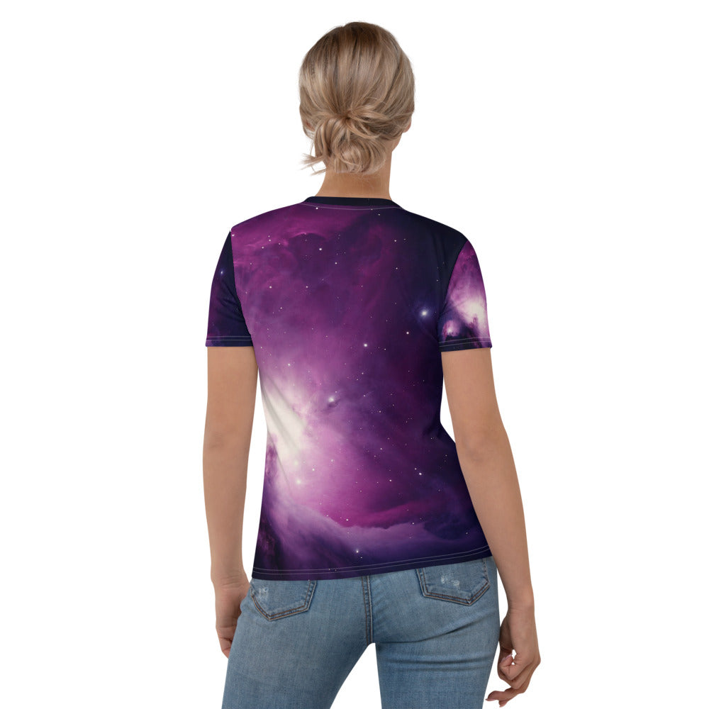 Skydiving T-shirts Galaxy - Orion Purple Nebula - Women's sublimation t-shirt, T-shirt, Skydiving Apparel, Skydiving Apparel, Skydiving Apparel, Skydiving Gear, Olympics, T-Shirts, Skydive Chicago, Skydive City, Skydive Perris, Drop Zone Apparel, USPA, united states parachute association, Freefly, BASE, World Record,