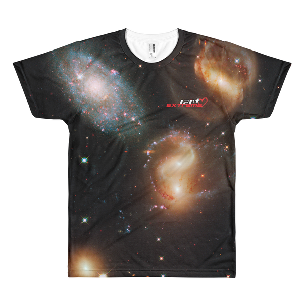 Skydiving T-shirts SPACE - Galactic wreckage in Stephan's Quintet - Men's T-shirt, T-shirt, Skydiving Apparel, Skydiving Apparel, Skydiving Apparel, Skydiving Gear, Olympics, T-Shirts, Skydive Chicago, Skydive City, Skydive Perris, Drop Zone Apparel, USPA, united states parachute association, Freefly, BASE, World Record,