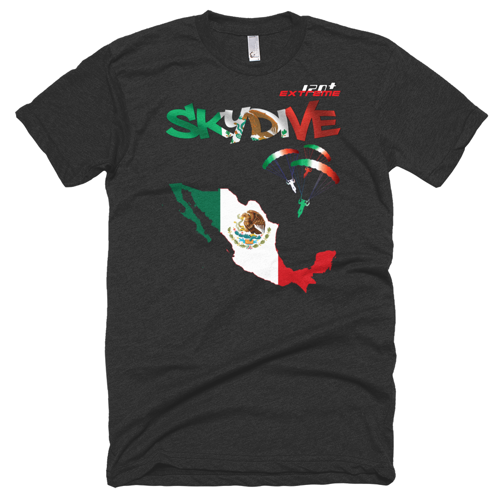 Skydiving T-shirts - Skydive All World - MEXICO - Unisex Tee -, Shirts, Skydiving Apparel, Skydiving Apparel, Skydiving Apparel, Skydiving Gear, Olympics, T-Shirts, Skydive Chicago, Skydive City, Skydive Perris, Drop Zone Apparel, USPA, united states parachute association, Freefly, BASE, World Record,