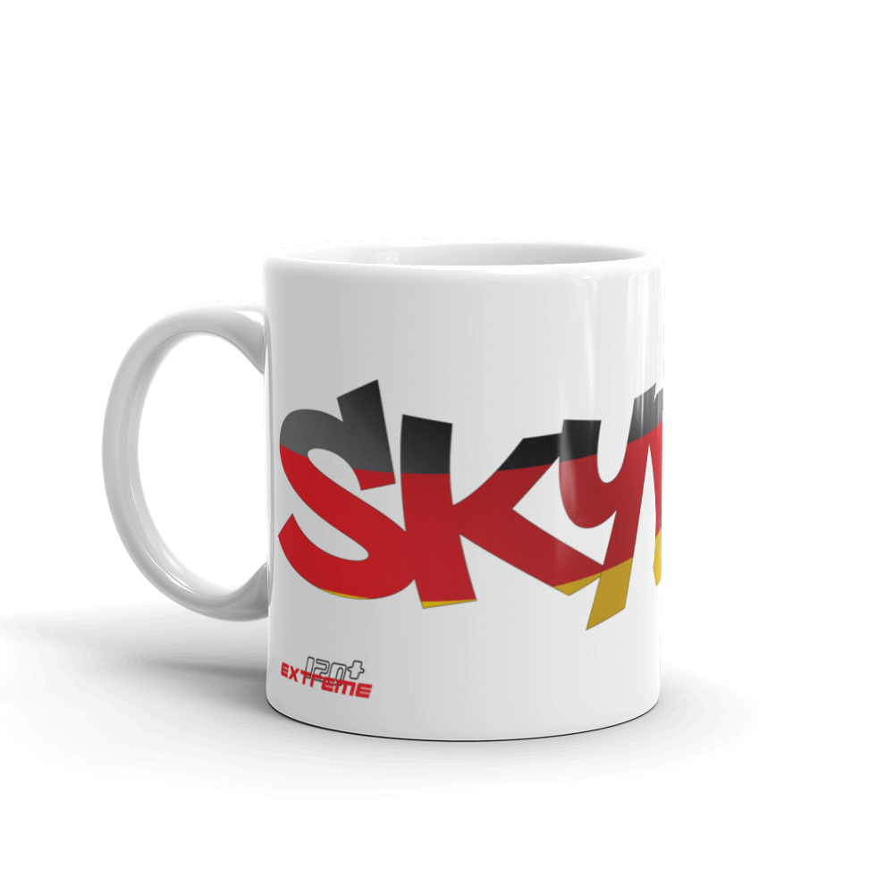 Skydiving T-shirts Skydiving Mug Team Germany, White Mugs, eXtreme 120+™ Skydiving Apparel, eXtreme 120+™ Skydiving Apparel, Skydiving Apparel, Skydiving Gear, Olympics, T-Shirts, Skydive Chicago, Skydive City, Skydive Perris, Drop Zone Apparel, USPA, united states parachute association, Freefly, BASE, World Record,