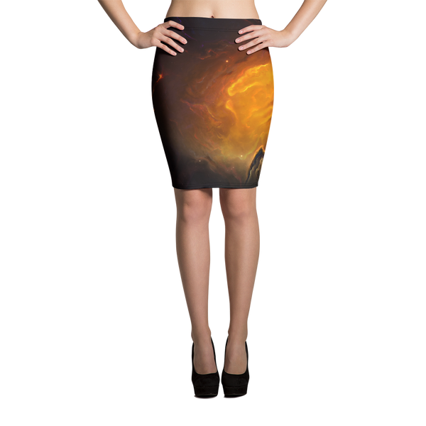 Skydiving T-shirts Galaxy - Nebula - Interstellar Milky-Way - Pencil Skirt, Skirts, eXtreme 120+™ Skydiving Apparel, Skydiving Apparel, Skydiving Apparel, Skydiving Gear, Olympics, T-Shirts, Skydive Chicago, Skydive City, Skydive Perris, Drop Zone Apparel, USPA, united states parachute association, Freefly, BASE, World Record,