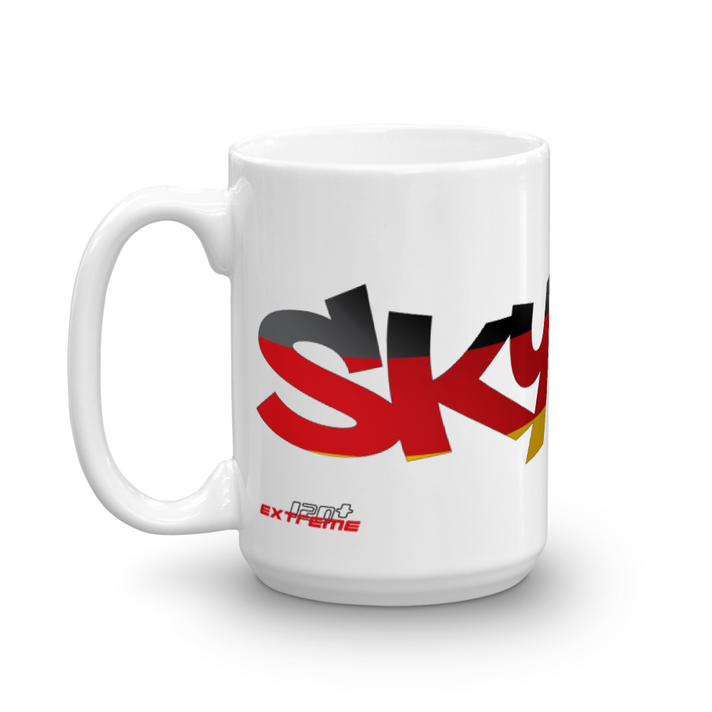 Skydiving T-shirts Skydiving Mug Team Germany, Mugs, eXtreme 120+™ Skydiving Apparel, eXtreme 120+™ Skydiving Apparel, Skydiving Apparel, Skydiving Gear, Olympics, T-Shirts, Skydive Chicago, Skydive City, Skydive Perris, Drop Zone Apparel, USPA, united states parachute association, Freefly, BASE, World Record,
