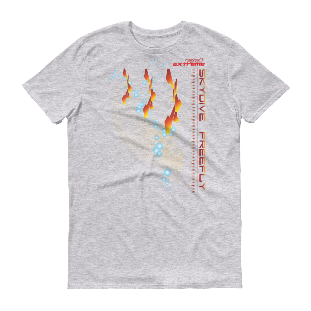 Skydiving T-shirts Skydive FREEFLY - Men`s Colored T-Shirts, Men's Colored Tees, eXtreme 120+™ Skydiving Apparel, eXtreme 120+™ Skydiving Apparel, Skydiving Apparel, Skydiving Gear, Olympics, T-Shirts, Skydive Chicago, Skydive City, Skydive Perris, Drop Zone Apparel, USPA, united states parachute association, Freefly, BASE, World Record,