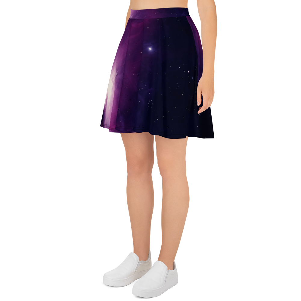 Skydiving T-shirts Galaxy - Orion Purple Nebula - Skater Skirt, Skirts, Skydiving Apparel, Skydiving Apparel, Skydiving Apparel, Skydiving Gear, Olympics, T-Shirts, Skydive Chicago, Skydive City, Skydive Perris, Drop Zone Apparel, USPA, united states parachute association, Freefly, BASE, World Record,