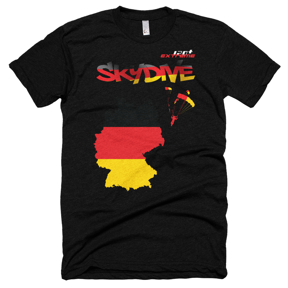 Skydiving T-shirts - Skydive All World - GERMANY - Unisex Tee -, T-shirt, SkydivingApparel™, Skydiving Apparel, Skydiving Apparel, Skydiving Gear, Olympics, T-Shirts, Skydive Chicago, Skydive City, Skydive Perris, Drop Zone Apparel, USPA, united states parachute association, Freefly, BASE, World Record,
