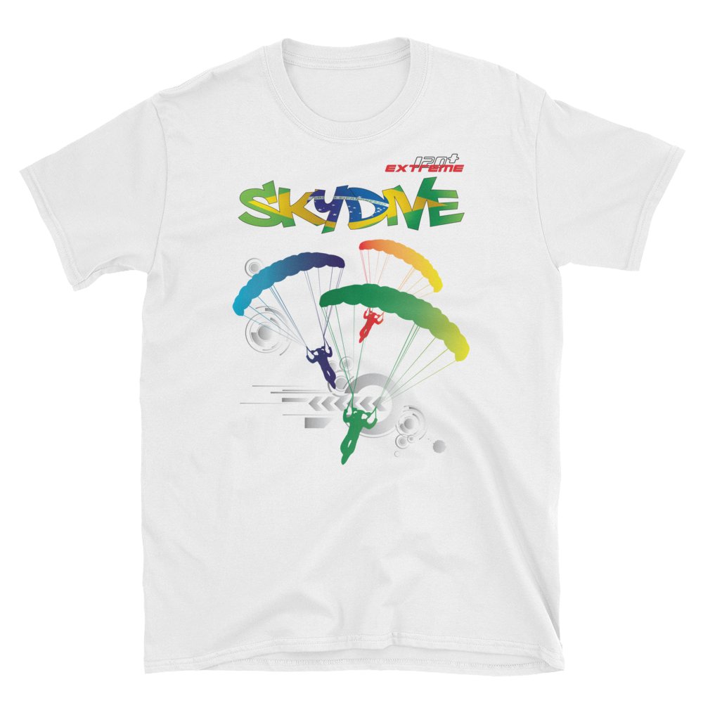 Skydiving T-shirts - Skydive World All Over - BRAZIL - Cotton Tee -, Shirts, eXtreme 120+™ Skydiving Apparel, eXtreme 120+™ Skydiving Apparel, Skydiving Apparel, Skydiving Gear, Olympics, T-Shirts, Skydive Chicago, Skydive City, Skydive Perris, Drop Zone Apparel, USPA, united states parachute association, Freefly, BASE, World Record,