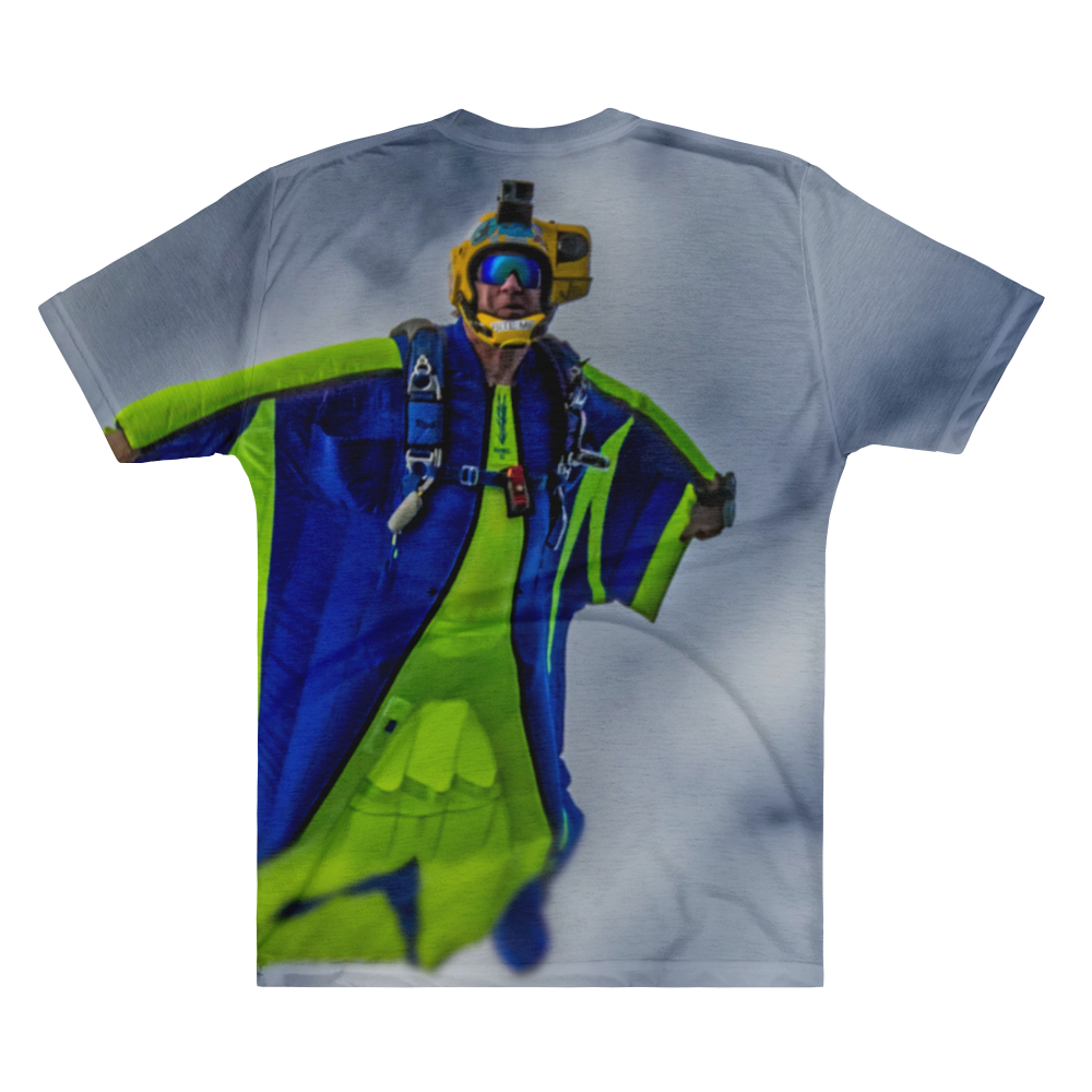 Skydiving T-shirts - Tony Suits - Bite Me - Men's V-Neck Tee -, Men's All-Over, Skydiving Apparel, Skydiving Apparel, Skydiving Apparel, Skydiving Gear, Olympics, T-Shirts, Skydive Chicago, Skydive City, Skydive Perris, Drop Zone Apparel, USPA, united states parachute association, Freefly, BASE, World Record,