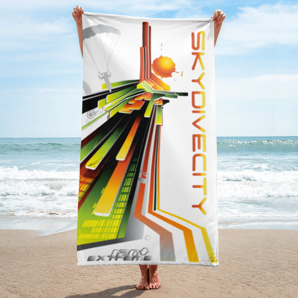 Skydiving T-shirts SkydiveCity Sunrise - Beach Towel, Beach Towel, eXtreme 120+™ Skydiving Apparel, eXtreme 120+™ Skydiving Apparel, Skydiving Apparel, Skydiving Gear, Olympics, T-Shirts, Skydive Chicago, Skydive City, Skydive Perris, Drop Zone Apparel, USPA, united states parachute association, Freefly, BASE, World Record,