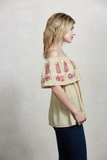 LOTUS OFF SHOULDER TOP (Cream)-CVT1507