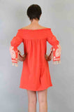 SELLY OFF SHOULDER DRESS (ORANGE)-CVD6419