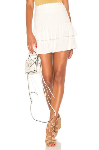 MARCELA  MINI SKIRT (Ivory)- VS1823
