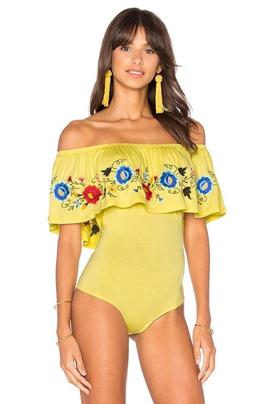 SOFIA BODYSUIT (Yellow)-CVT1651