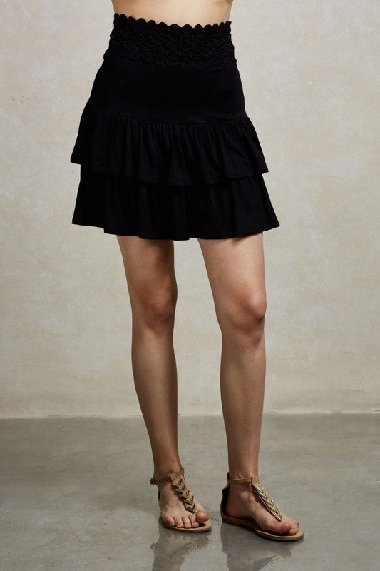 MARCELA  MINI SKIRT (Black)- VS1823