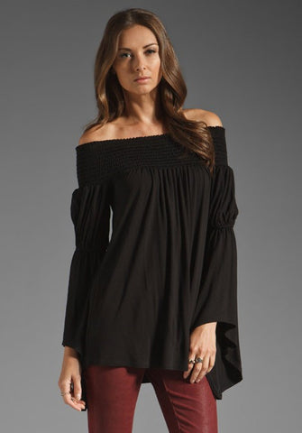 AUBREY OFF SHOULDER TOP (Black)-JT7510