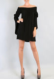 AUBREY OFF SHOULDER DRESS (Black)-JD7099