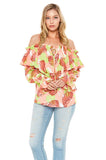 AMELIE TOP (Coral Multi)-VT2088