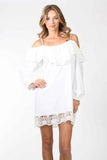 CHANTILY DRESS (WHITE) -VD9711