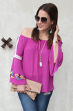 ULLA OFF SHOULDER TOP(MAGENTA)-CVT2103