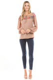 BRITNEY LONG SLEEVE BLOUSE(BROWN) -CVT1482