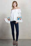 MERUVINA OFF THE SHOULDER TOP (Ivory)- CVT8998