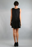 PAULA SHIFT DRESS  (BLACK)-D7444