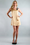 PAULA SHIFT DRESS  (GOLD)-D7444
