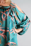 DIANE SMOCK DRESS(TEAL)-D7646