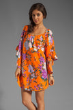 SARA DRESS (ORANGE)-D8096