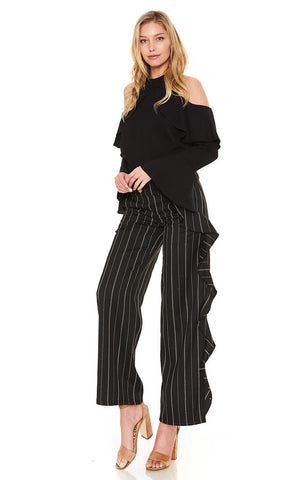 DANDY RUFFLE PANTS (Black)