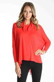 GENESSA PONCHO(DARK ORANGE)- VT1020