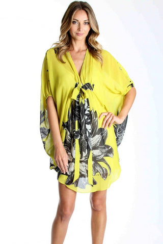 JANET CAFTAN DRESS (MUSTARD)- VD1034