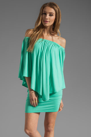 MINA CONVERTIBLE DRESS (SEAFOAM)-JD7081