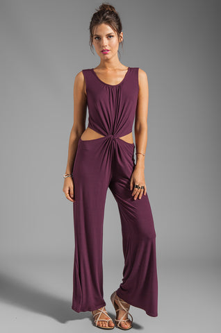 SAVANNAH JUMPSUIT (WINE)-JD8015