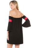 ROBIN BELL SLEEVE DRESS (BLACK, NAVY)-JD8480