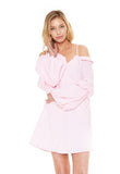 JEMIMA OFF SHOULDER DRESS (Pink)- CVD2091