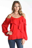 JOAN LONG SLEEVE TOP (RED)-CVT9725