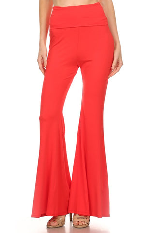 FLARE ROLLOVER PANTS (DARK ORANGE)- JP9121