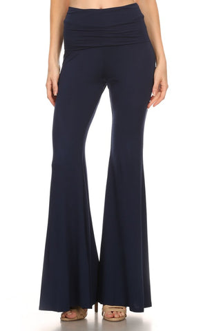 FLARE ROLLOVER PANTS (NAVY)- JP9121