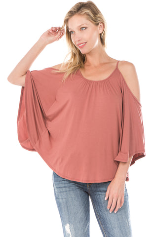NICK OPEN SHOULDER TOP (COPPER)- JT7352