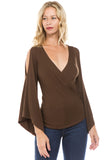 KELSEY TOP (DARK BROWN)-JT8290