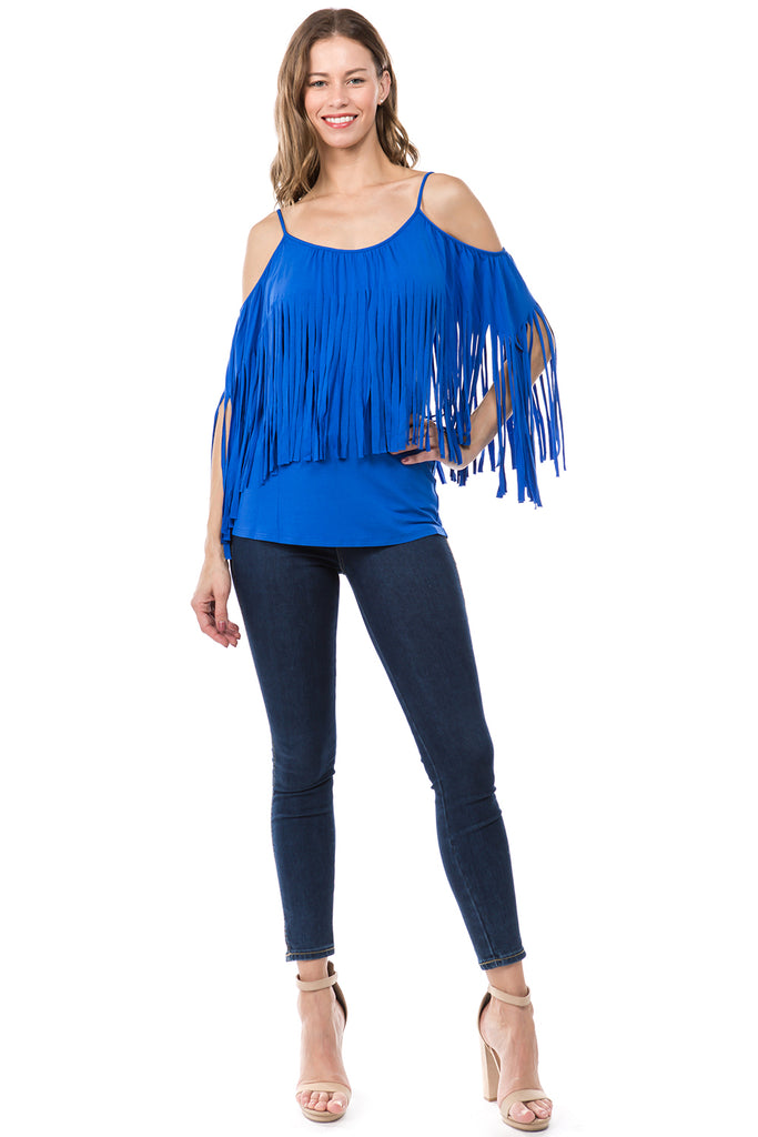 SIENNA OPEN SHOULDER TOP (ROYAL BLUE)- JT9150