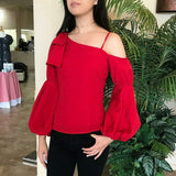 MABEL ASYMMETRICAL TOP (Red)-VT2050