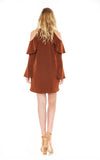 SALLIE DRESS (Brown)-VD1935