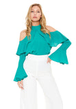 SALLIE TOP (Green)-VT1934