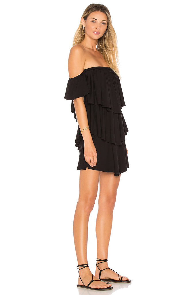 MARION OFF THE SHOULDER MINI DRESS (Black)-VD1678