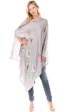 PONCHO SILK DRESS (Grey)- VD1642