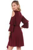 LEILANI WRAP DRESS (Wine)- VD2193